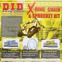 Komplet napedowy Yamaha XT 125 DID 428 OFF DID X-RINGK 428 otwarty