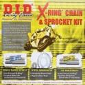 Komplet napędowy Suzuki GSX 1400 DID 530ZVMX X-RING